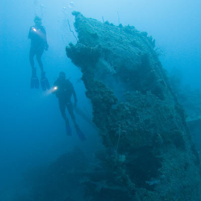 PADI MSDT Instructor Wreck diver Bali