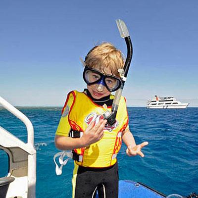Snorkeling in amazing bali