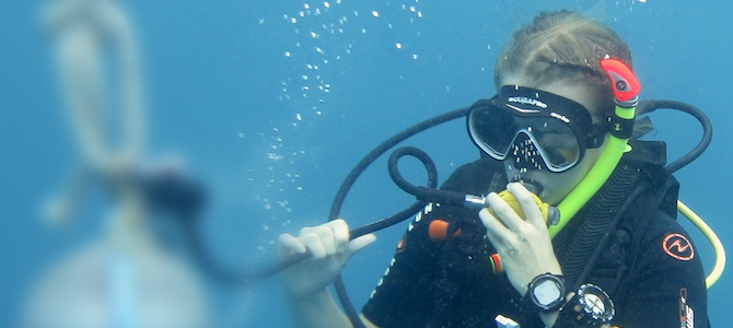 Start your dive career with Crystal Divers in Bali