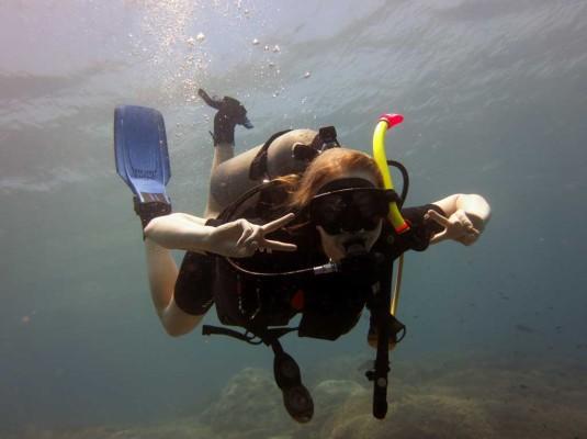 Female-diver